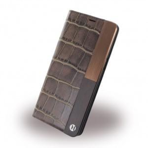 Uunique Lux Croc UUOOS8WC002 Book Cover für Samsung Galaxy S8 - Braun