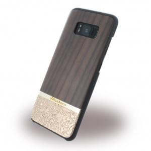 Uunique Rosewood & Gold Embossed Hardcover für Samsung Galaxy S8 - Braun