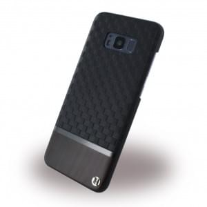 Uunique Embossed Diamond UUS8PSLSHS02 - Hardcover für Samsung Galaxy S8 Plus - Schwarz