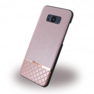 Uunique Metallic Saffiano UUS8PSLSHS04 Hardcover für Samsung Galaxy S8 Plus - Rose Gold