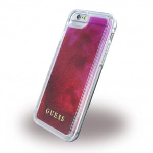 Guess Liquid Glitter GUHCP7GLUGRPI Hardcover für Apple iPhone 7 - Rose
