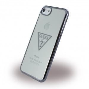 Guess Triangle Silikon Case / Handyhülle für Apple iPhone 7 / 8 Schwarz