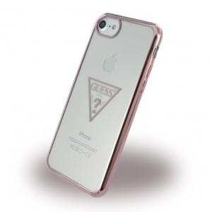 Guess Triangle Silikon Case / Handyhülle für Apple iPhone 7 / 8 - Rose Gold