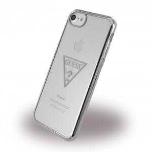 Guess Triangle Silikon Case / Handyhülle für Apple iPhone 7 / 8 - Silber