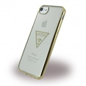 Guess Triangle Silikon Case / Handyhülle für Apple iPhone 7 / 8 - Gold