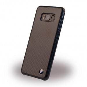 BMW Carbon Look Fiber - Hard Cover / Hülle / Case für Samsung Galaxy S8+ Plus Schwarz