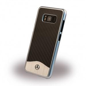 Mercedes Benz Wave V Carbon + Aluminium MEHCS8CACBK Hardcover / Handyhülle für Samsung Galaxy S8 Schwarz