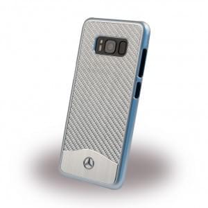 Mercedes Benz Wave V Carbon + Aluminium MEHCS8CACSI Hardcover / Handyhülle Samsung Galaxy S8 Silber
