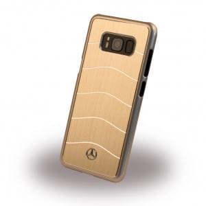 Mercedes Benz WAVE VIII MEHCS8CUSALGO Hardcover für Samsung Galaxy S8 Gold