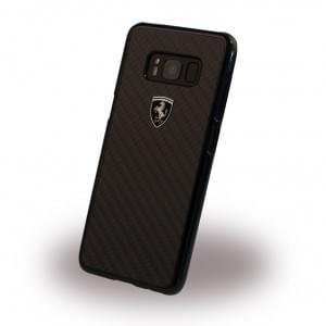 Ferrari - Heritage Carbon Hardcover - Samsung Galaxy S8 Schwarz
