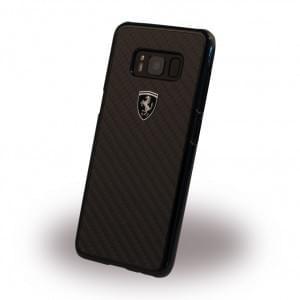 Ferrari Heritage FEHCAHCS8LBK - Carbon Hardcover für Samsung Galaxy S8 Plus Schwarz
