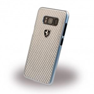 Ferrari - Heritage FEHCAHCS8SI - Carbon Hardcover - für Samsung Galaxy S8 Silber
