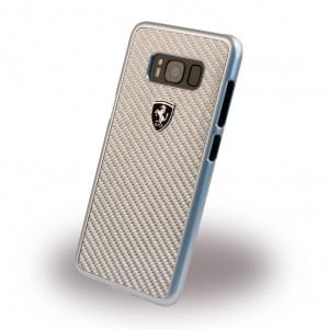 Ferrari - Heritage FEHCAHCS8LSI - Carbon Hardcover - Samsung Galaxy S8 Plus Silber