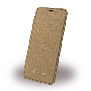 Guess - IriDescent GUFLBKS8LIGLTGO - Book Cover - Samsung Galaxy S8 Plus G955F -Gold