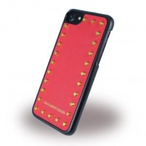 Trussardi - Studs Rigid - Hardcover für Apple iPhone 7 / 8 - Rot