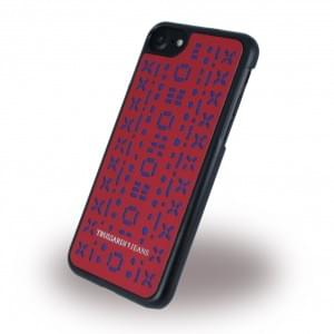 Trussardi - Stitches Rigid - Hardcover für Apple iPhone 7 / 8 - Rot