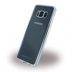 Trussardi - Silver Frame - Silikon Case - Samsung Galaxy S8 G950 - Silber