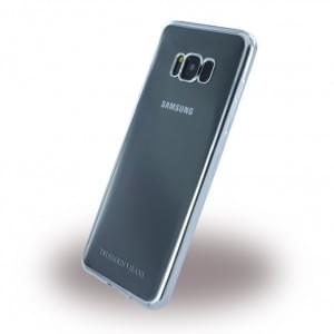 Trussardi - Silver Frame - Silikon Case - Samsung Galaxy S8 Plus G955 - Silber