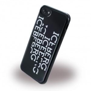 Iceberg Block Silikon Hülle / Handyhülle für Apple iPhone 7 / 8 - Schwarz