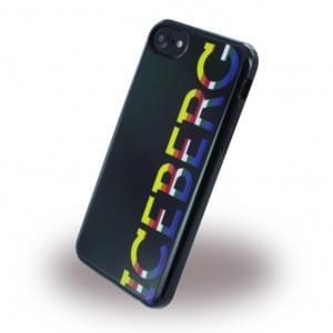 Iceberg Logo Color Silikon Hülle für Apple iPhone 7 / 8 - Schwarz