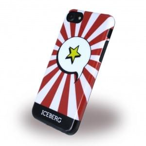 Iceberg Star Silikon Hülle für Apple iPhone 7 / 8 - Rot Weiss