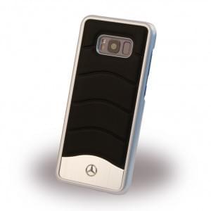 Mercedes Benz - Wave III Aluminium Handyhülle für Samsung Galaxy S8+ Plus - Schwarz