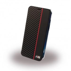 BMW PU Book Case Bi-Material BMBKTRS8CAPRBK für Samsung Galaxy S8 G950F - Transparent / Schwarz