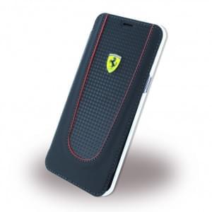 Ferrari - Pit Stop Carbon Book Cover für Samsung Galaxy S8+ Plus G955F - Schwarz
