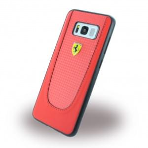 Ferrari - Pit Stop - Carbon Hardcover - Samsung Galaxy S8 Plus G955F - Rot