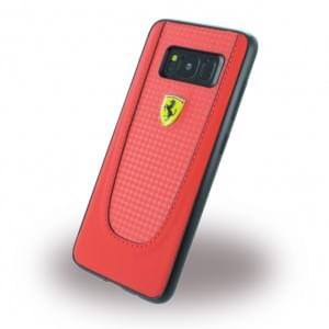 Ferrari - Pit Stop - Carbon Hardcover - Samsung Galaxy S8 G950F - Rot