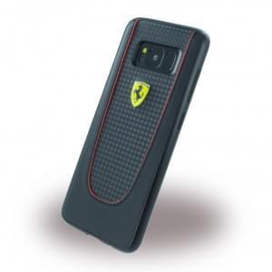 Ferrari - Pit Stop - Carbon Hardcover für Samsung Galaxy S8 G950F - Schwarz