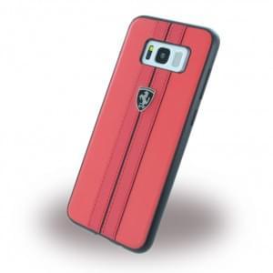 Ferrari - Kunstleder Hardcover für Samsung Galaxy S8 Plus G955F - Rot