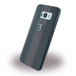 Ferrari - Kunstleder Hardcover für Samsung Galaxy S8 Plus G955F - Schwarz