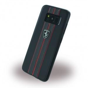 Ferrari - Kunstleder Hardcover für Samsung Galaxy S8 G950F - Schwarz