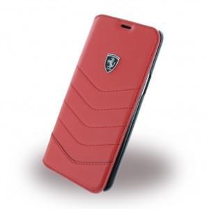 Ferrari - Heritage - Echtleder Book Cover - Samsung Galaxy S8 Plus G955F - Rot