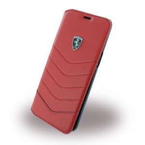 Ferrari Heritage Echtleder Tasche / Book Cover für Samsung Galaxy S8 G950F - Rot