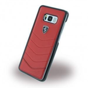 Ferrari - Heritage - Echtleder Hardcover - Samsung Galaxy S8 Plus G955F - Rot