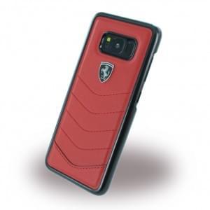 Ferrari - Heritage - Echtleder Hardcover - Samsung Galaxy S8 G950F - Rot