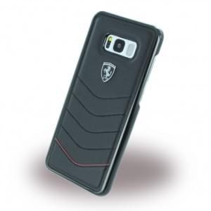 Ferrari - Heritage - Echtleder Hardcover - Samsung Galaxy S8 Plus G955F - Schwarz