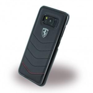 Ferrari - Heritage - Echtleder Hardcover - Samsung Galaxy S8 G950F - Schwarz
