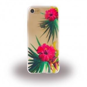 Uunique Street Tropical Floral Silikon Hülle für Apple iPhone 7 / 8 - Bunt