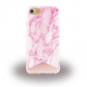 Uunique Street Marmor Silikon Hülle für Apple iPhone 7 / 8 - Pink