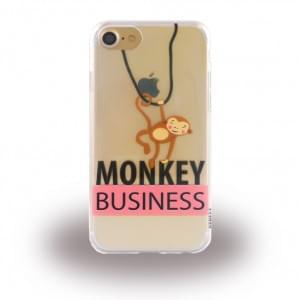 Uunique Street Monkey Silikon Hülle für Apple iPhone 7 / 8 - Bunt