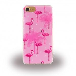 Uunique Street Flamigo Silikon Hülle für Apple iPhone 7 / 8 - Pink