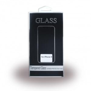 3D Glas Displayschutz / Displayschutzglas für Apple iPhone X - Schwarz