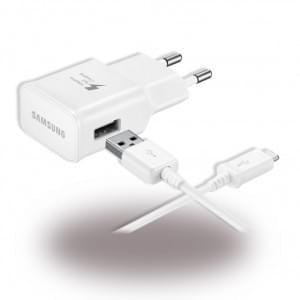 Original Samsung EP-TA20EWE Schnell Ladegerät + Kabel USB auf USB Typ C Weiss