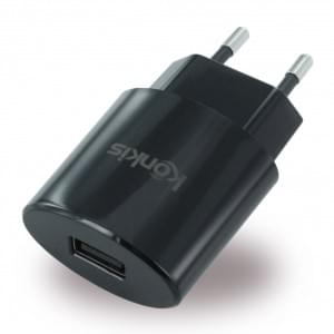 Konkis Vento USB Netzteil / Ladegerät 1000mA - Schwarz