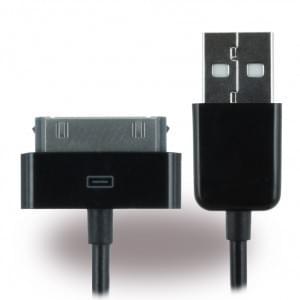 Konkis Vento Datenkabel USB zu 30polig 1m iPhone 4, 4S / iPad - Schwarz