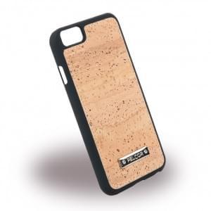 Pelcor Kork Krispy Hardcover für Apple iPhone 8 / 7 - Schwarz
