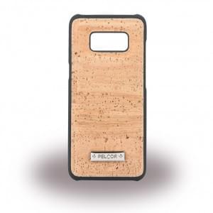 Pelcor Kork Krispy Hardcover für Samsung Galaxy S8 G950F - Schwarz